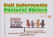 Nueva Hoja Informativa de la Pastoral Obrera de Barcelona